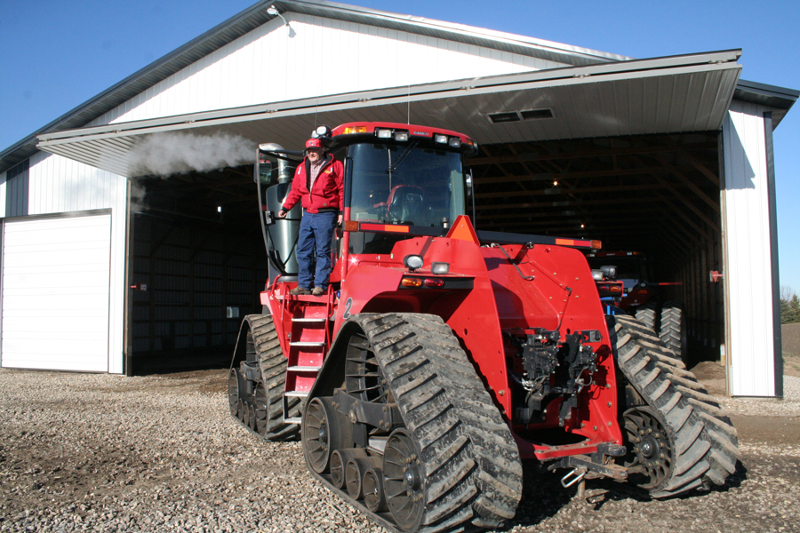 Big tractors require big machine shed doors