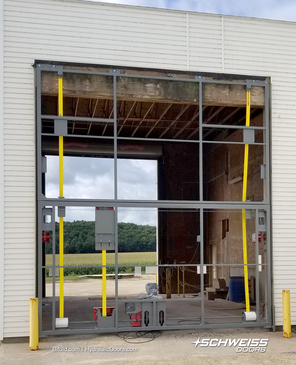 installing Schweiss Liftstrap Doors on Wisconsin Ag Building