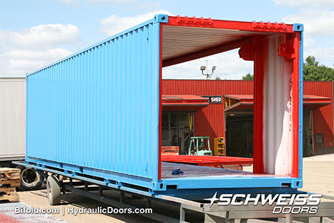 Schweiss Container with clear openings ready for doors