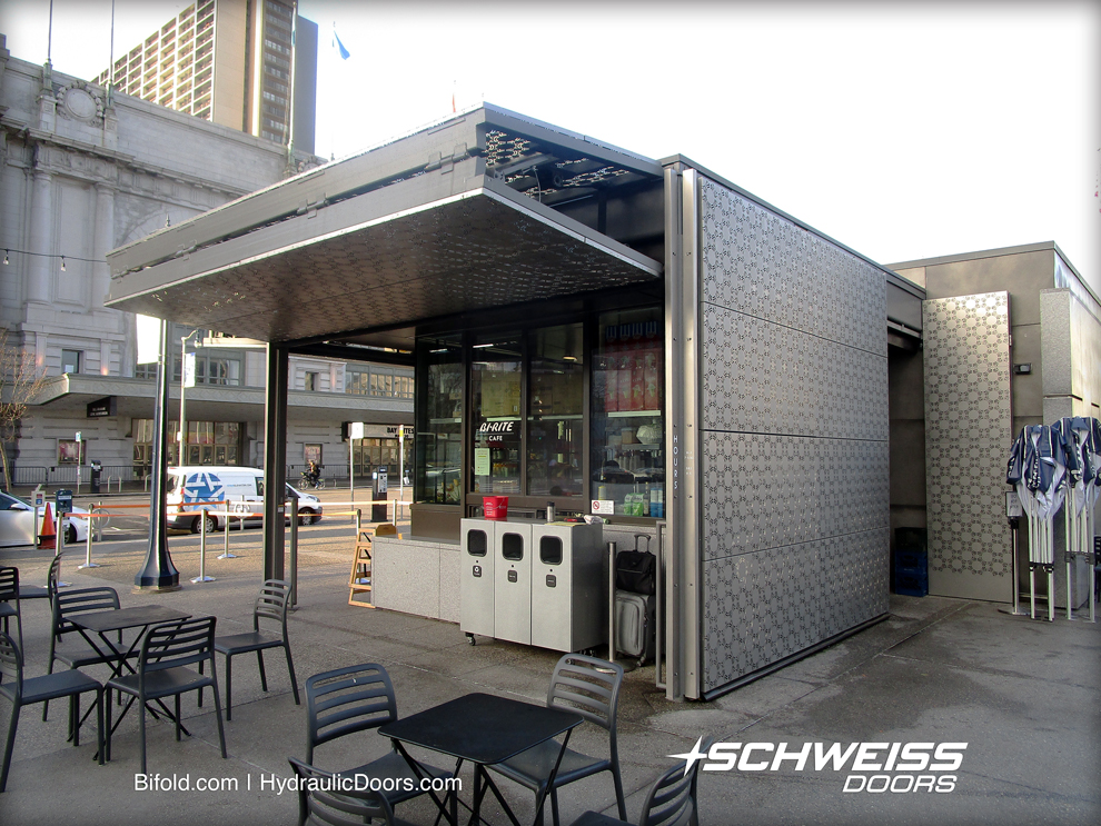 Schweiss Bifold Doors can be opened/closed to modify ability to deliver service.