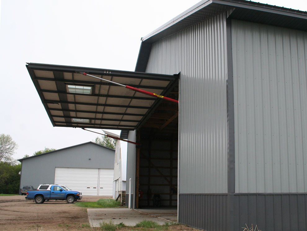 Large farm door canopy