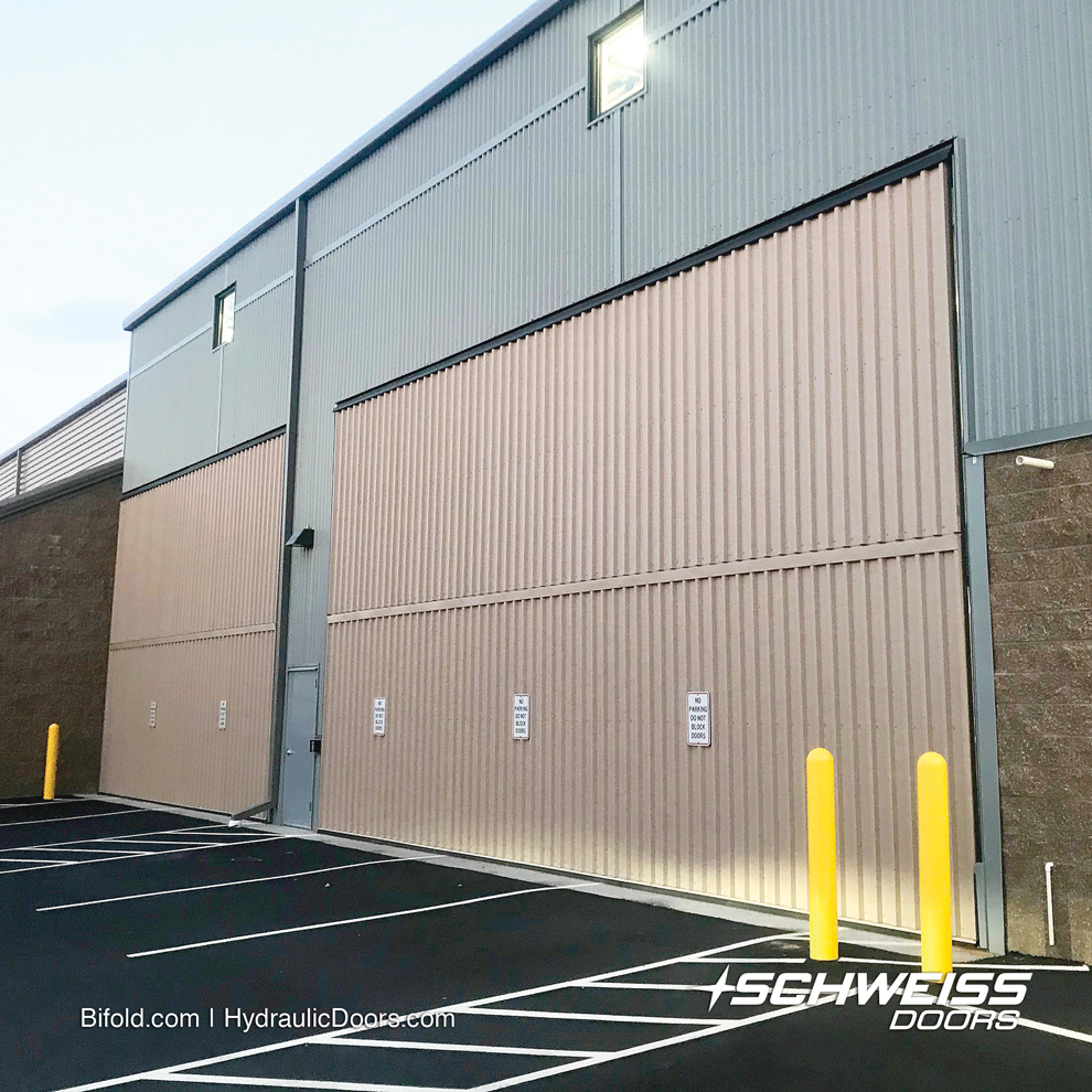 The two Schweiss doors are part of the +50,000 square feet storage space facility