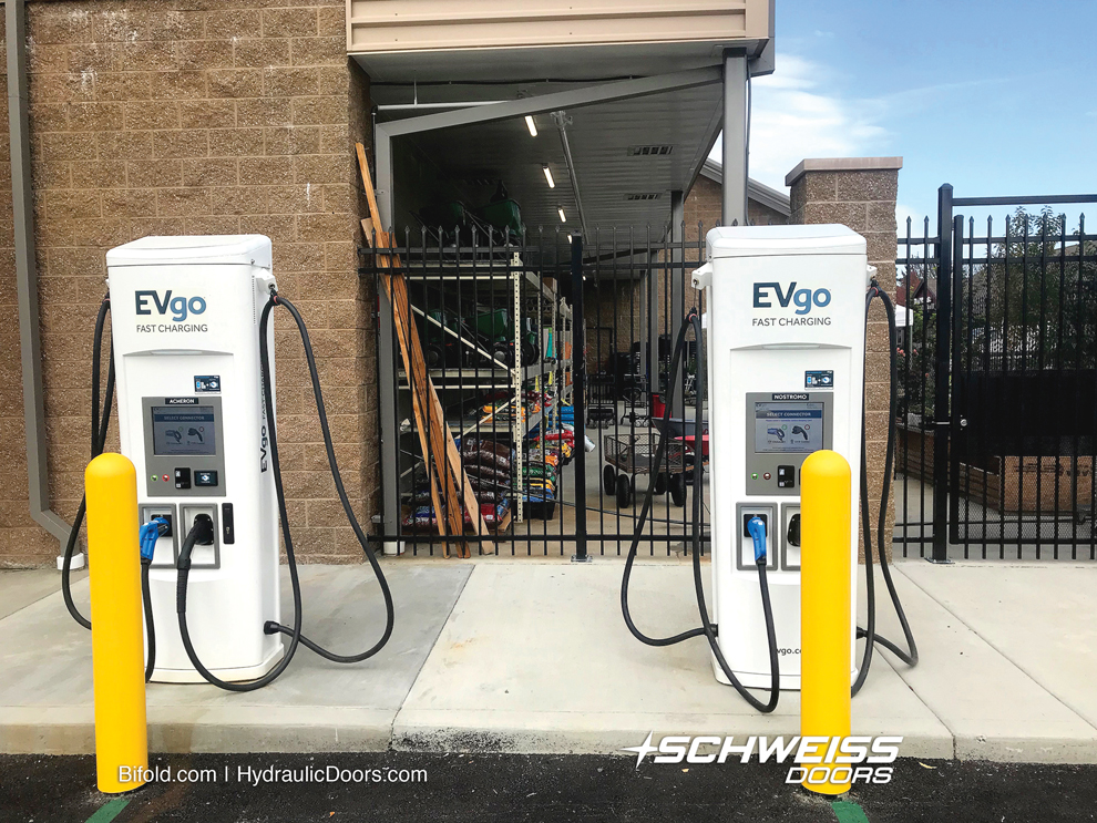 Storage facility was selected for rapid rate vehicle chargers