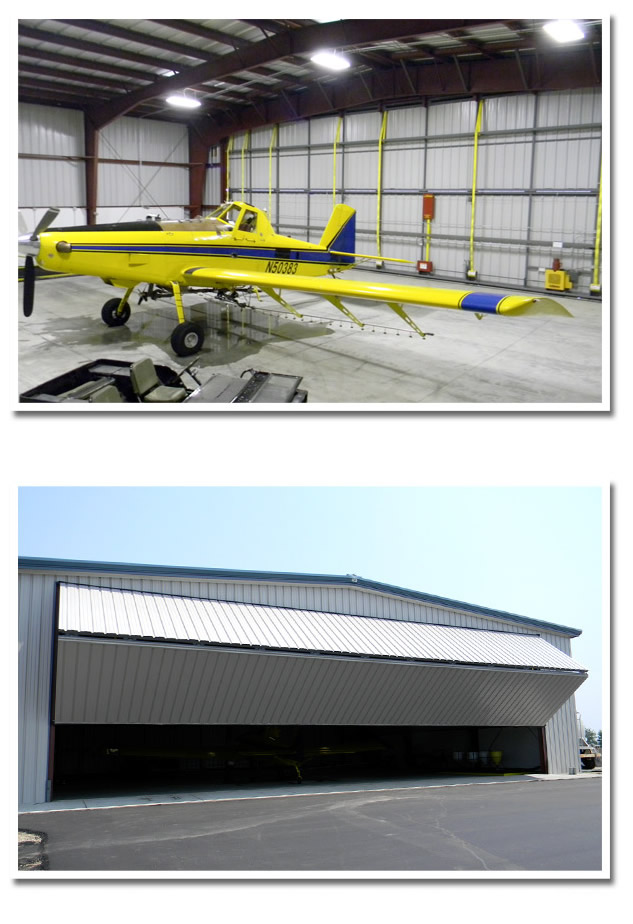 Air Tractor and Bifold Doors are an impressive combination for spray operation