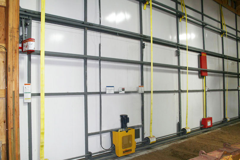 Interlocking door insulation