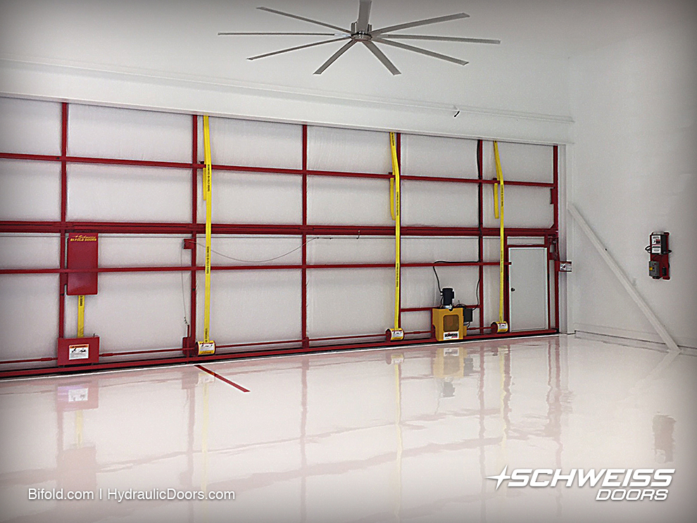 Aesthetically pleasing bifold hangar door