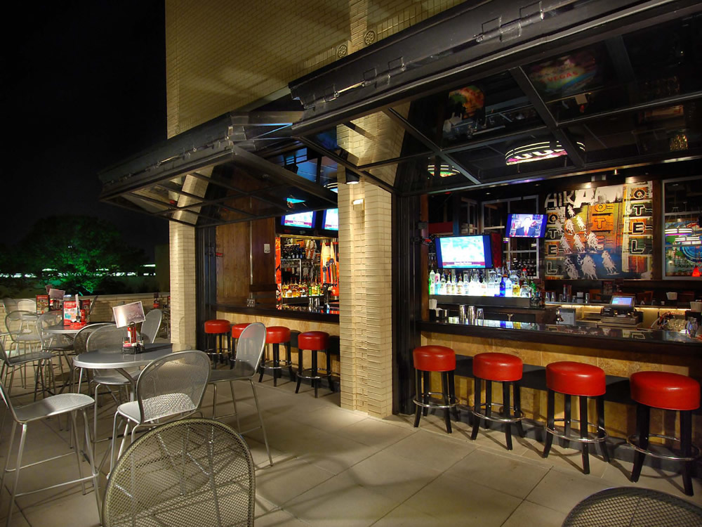 Schweiss photo of the day tgif custom bifold restaurant for Balcony bar restaurant