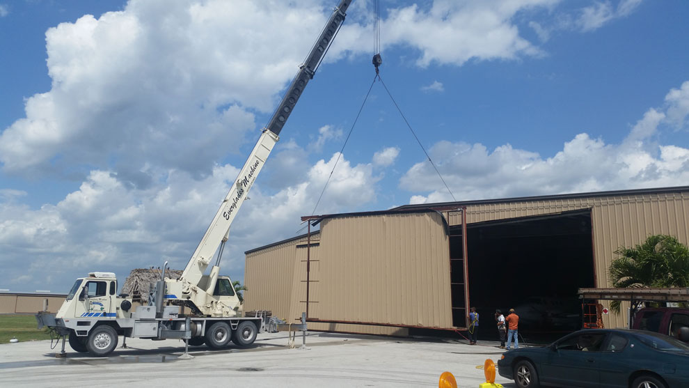 hydraulic hangar door replacement