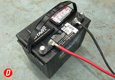 12 Volt Battery powers the system