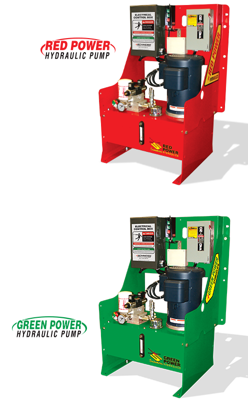 Hydraulic Red and Green Pump