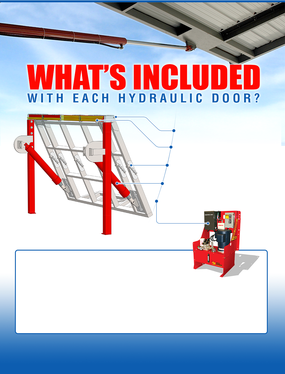Product Feature - What's Included with Each Hydraulic Door?