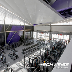 Training Facility in Minnesota has Schweiss Liftstrap Doors