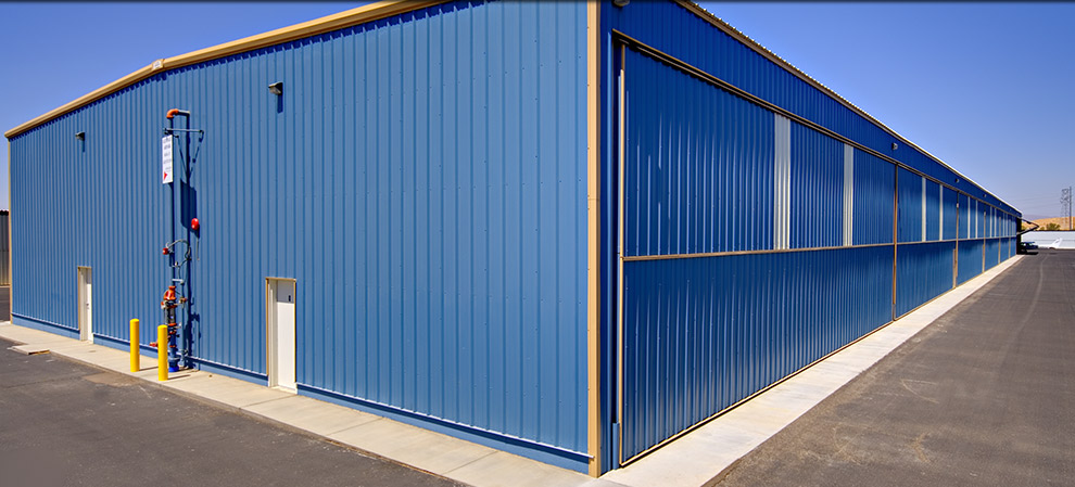 sheeting and siding on Liftstrap Hangar Doors