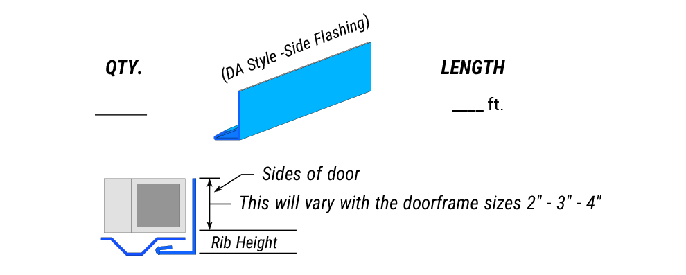 Special Side Flashing - DA style - Side Flashing