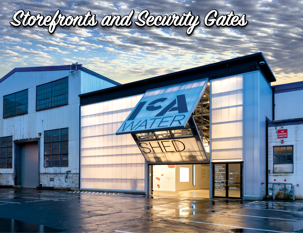 Schweiss Storefront and Security Gates