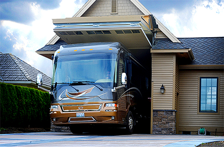 Schweiss RV Garage Doors bypass building code to get house an full-size RV