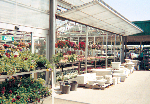 Greenhouse Bifold Doors . . . translucent panel cladded