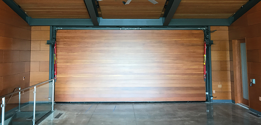 Wood Paneling on Door Interior