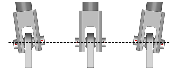 Spherical Bearing on Schweiss Doors allows the door to flex during operation