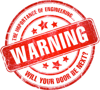 Warning: The importance of engineering. Will your door be next? Hydraulic failures