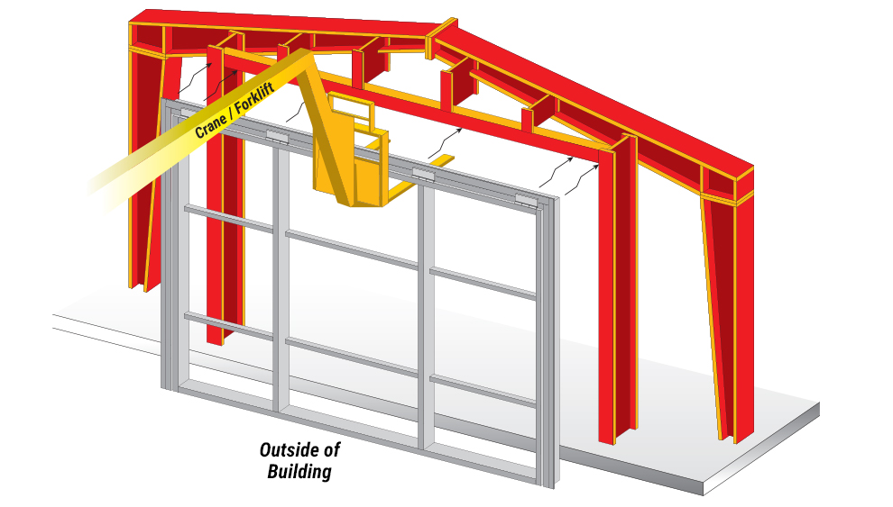 Hydraulic Door Installation - install door to opening