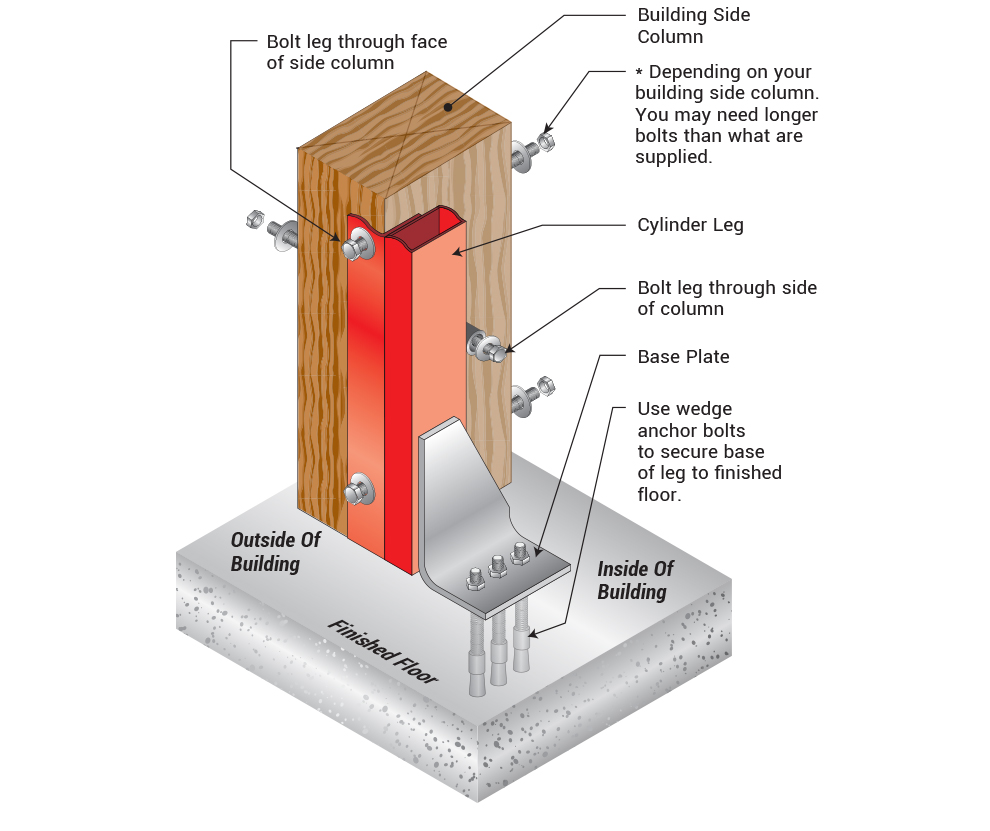 Hydraulic Door Installation - fasten Door to Jambs