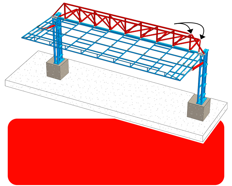 The Added Double Header Truss Design Designed by Schweiss