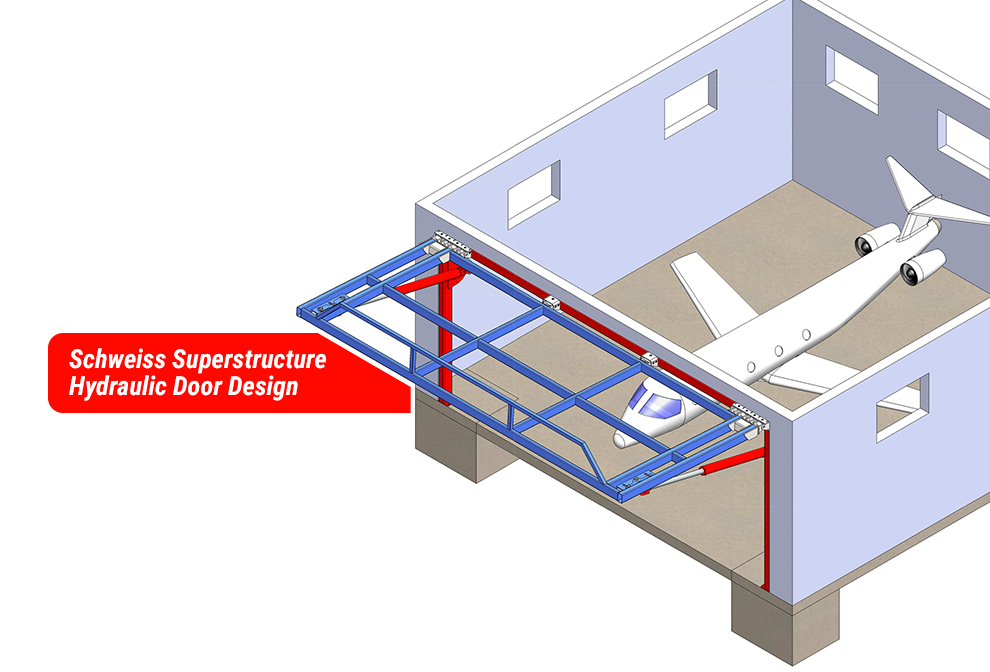 Schweiss Superstructure Hydraulic Door Design