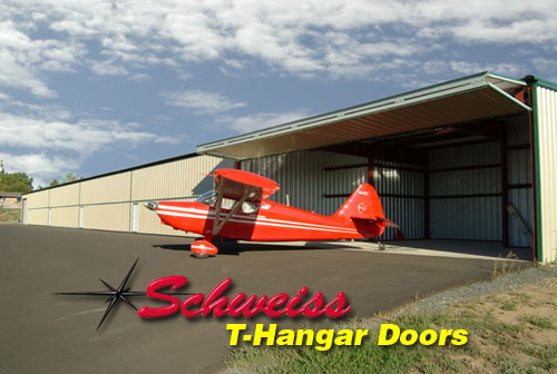 T-Hangars with Schweiss Bifold Doors Installed