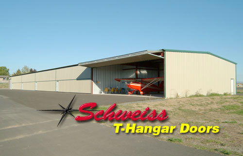 T-Hangar with Airplane Inside