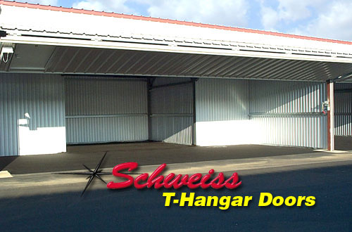 T-Hangar and Bifold Door Close Up