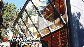Schweiss Residential Door in Santa Monica and Hollywood homes