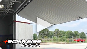 Schweiss Airplane hangar doors at Aviation Technology Academy.