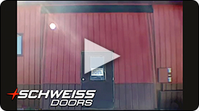 Schweiss Hydraulic doors have Walkdoor option for convenience.