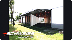 Schweiss doors are custom-built made to order