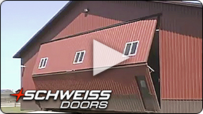 Red Schweiss hydraulic door Opening and Closing