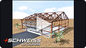 Schweiss Doors builds for building sidewall