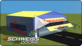 Schweiss opens new hydraulic doors. 3-D animation