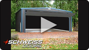 Schweiss Bifold Hangar Doors Open / Close