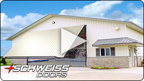 Schweiss Doors match the Building Siding