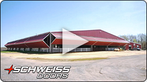 Horse Stable choose Schweiss Liftstrap Doors