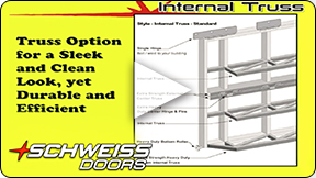 Schweiss Doors has options for Truss placement
