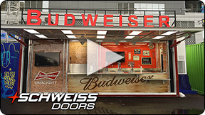 Schweiss Container Door to server Drinks