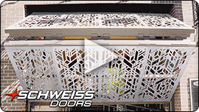 Pike Motoworks' decorative metal clad doors