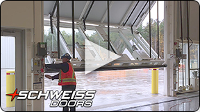 Schweiss Bifold Door at Candian Military Base