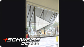 Schweiss Military liftstrap door in Canada