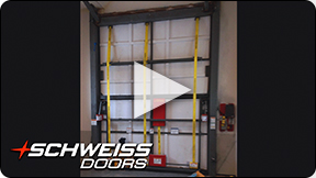 Inside concealed Schweiss RV Door