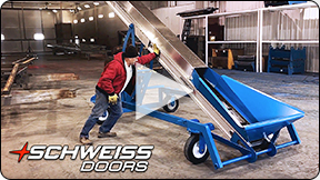 Schweiss Manure Conveyor is easy to use.