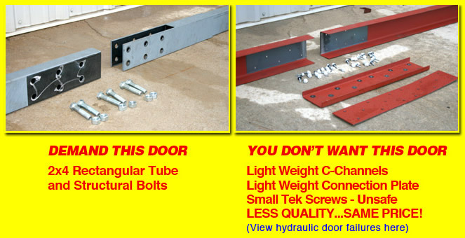 hydraulic door member comparison