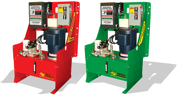 Red Power and Green Power pumps! Only from Schweiss